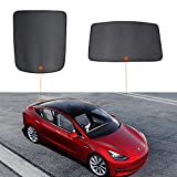 VXDAS Glass Roof Mesh Sunshade for Tesla Model 3, Custom Fit for Front and Rear Window Sunshade UV Protection Sun Visor Blind Shading Net Compatible for Tesla Model 3 Set of 2