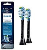 Philips Sonicare HX9042/33 - Pack de dos cabezales control de placa, con tecnología RFID para Diamond Clean Smart, color negro