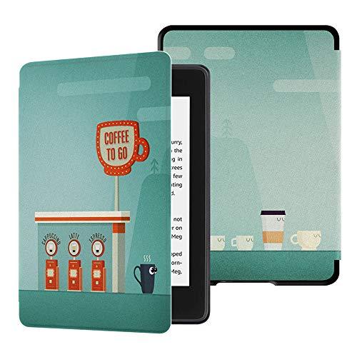 HUASIRU Pintura Caso Funda para Kindle Paperwhite (10.ª generación - Modelo de 2018) [Nunca agrietarse], café