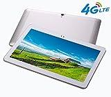 4G LTE 10.1 pouces Tablette Octa Core IPS Bluetooth RAM 4Go ROM 64Go 4G Double carte SIM Téléphone Appel Tablettes PC Android 6.0 GPS IPS WIFI 7 10.6 10 Argent