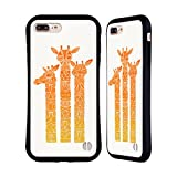 Head Case Designs Licenciado Oficialmente Cat Coquillette Orange Ombre Giraffes Animales Carcasa híbrida Compatible con Apple iPhone 7 Plus/iPhone 8 Plus