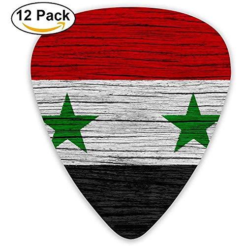 Syrien-hölzerne Beschaffenheits-syrische Flaggen-Gitarren-Auswahl 12pack