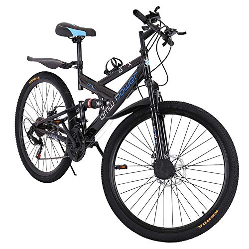 Mountain Bike for Adults, 2021 New 26 Inch Men and Women Mountain Bikes Carbon Steel 21 Speed Bicycle MTB Bike K-Type Shock-Absorbing Double Disc Brake (Stock in US)