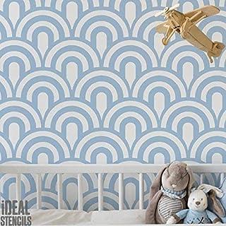 Etonnant Vintage Pétoncle Art Déco Gabarit Pochoir | Mural Maison Décoration Art U0026  Artisanat Pochoir | Peinture