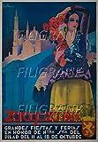 PostersAndCo Zaragoza Ferias 1934 Ryhh-Poster/Kunstdruck 40