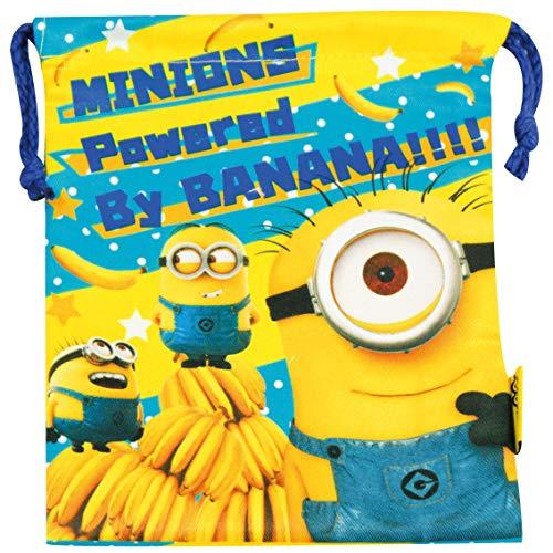 ジェイズプランニング 巾着 ミニオンズ バナナ 表裏別柄 サイズ:h21×w18cm