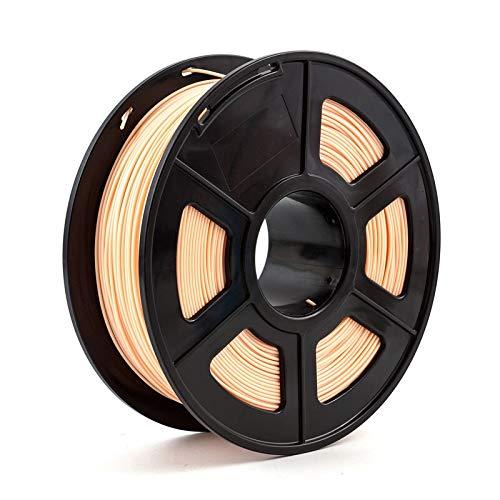 TongGuo 3D Printer Filament PLA ,High strength, good toughness.No Bubble.,1.75mm 1kg/2.2lbs 3d plastic consumables material 3d filament PLA (Color : Skin)