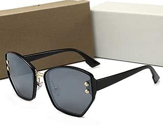 LUKEEXIN Women's Fashion Frameless Sunglasses, Polarized Glasses (Color : Grey)