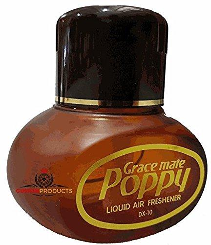 Original Poppy Duftspender (Vanille) ✓ Elegantes Flakon ✓ Für Auto & LKW ✓ Mit LED-Licht | Lufterfrischer, Autoduft auf flüssiger Basis als LKW-Zubehör | Raumerfrischer, Raum-Duft für die Wohnung