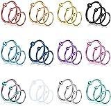 CASSIECA 36 Piezas 21G Piercing Nariz Aro para Mujeres Hombres Piercing Nariz Acero Quirurgico Nostril Piercing Nariz Septum Helix Tragus Piercing Joyas