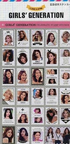 少女時代 シール ステッカー グッズ ガールズジェネレーション 切手型
