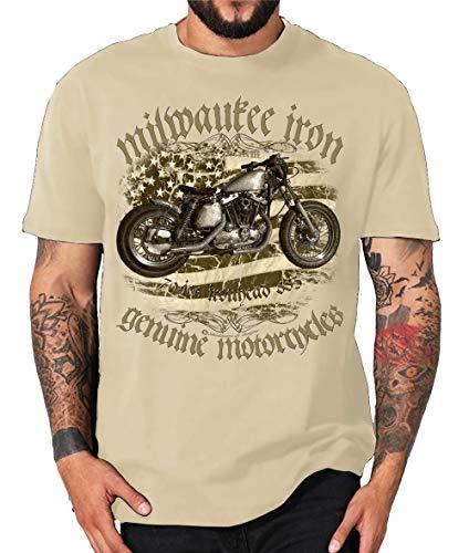 Milwaukee Iron Legends Chopper Bobber V2 - Camiseta de motorista