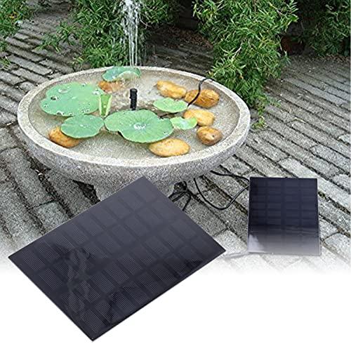 logozoee Bomba de Agua, Equipo Multifuncional para estanques de energía Solar 9V / 2W con 4 boquillas para estanques al Aire Libre