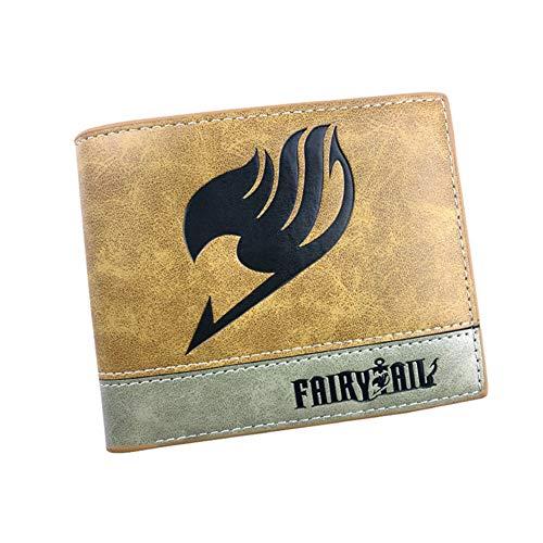 ALTcompluser Anime Fairy Tail Brieftasche Bifold Geldbörse/Geldbeutel für Herren und Damen, Portemonnaie Wallet(Braun)