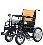 JYHS Electric Wheelchair, Elderly Disabled Wheelchair, Foldable Portable Care 4-Wheel Double Motor Electric Scooter, Load Capacity 100Kg (Color : 10A),20A,Colour Name:12a (Color : 10a)