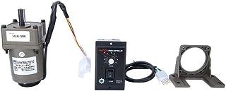 M315-402 reductor de velocidad ajustable de 220V 15W, motor eléctrico del engranaje del imán permanente con el soporte del regulador(50K)