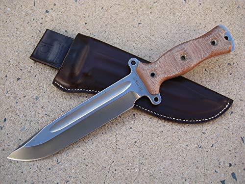 Azula Gun Holsters Busse Combat HOG Gemini Knife Custom Molded Leather Sheath Brown USA