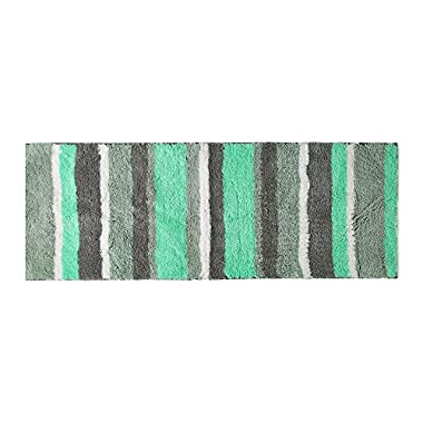 Hi Space Extra Long Bathroom Runner Rugs Non-Slip Microfiber Bath Mat Rug for Bathroom Absorbent Kitchen Floor Rug Machine Washable, Mint Green
