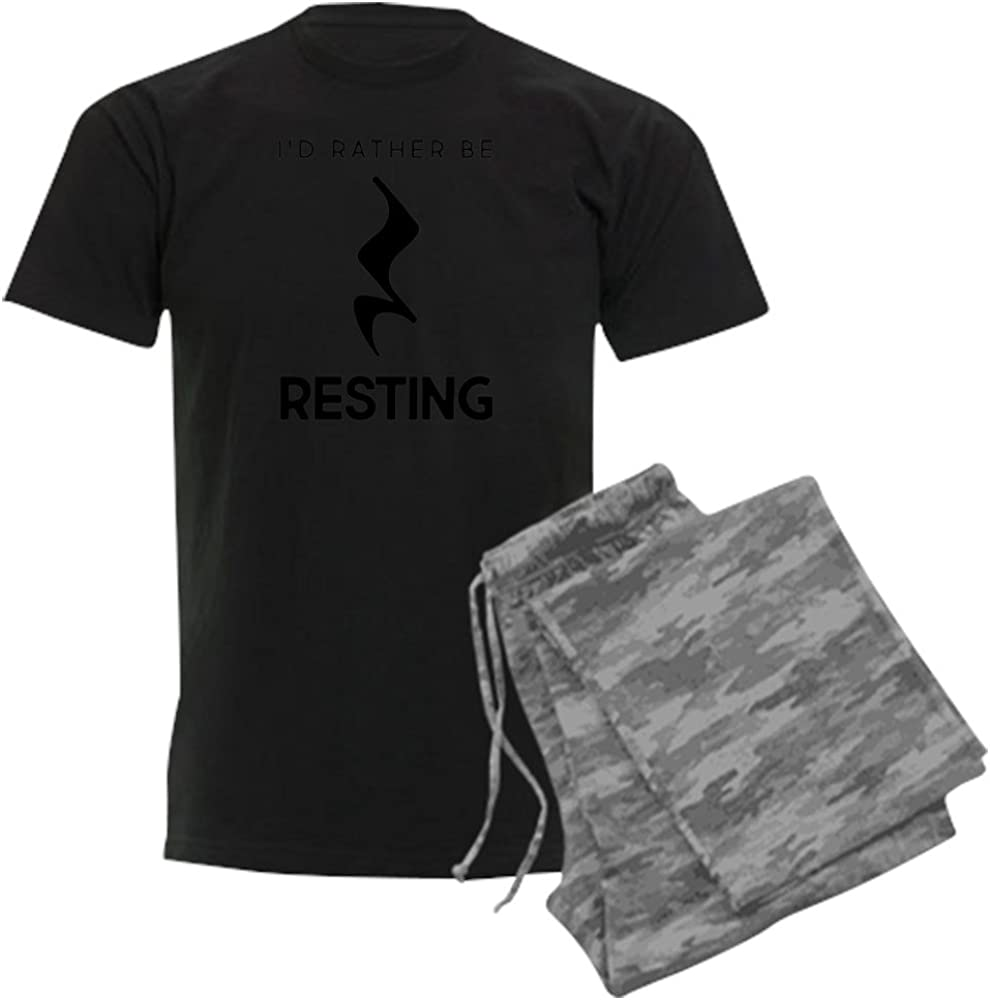 CafePress I'd Rather Spring new work one after another Dedication Be Pajama Set Resting