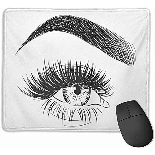 Gaming Mouse Pad, Mouse Mat Lash Beautiful Female Eyebrow and Big Eye with Fake Lashes Extensions de Cils Couleur