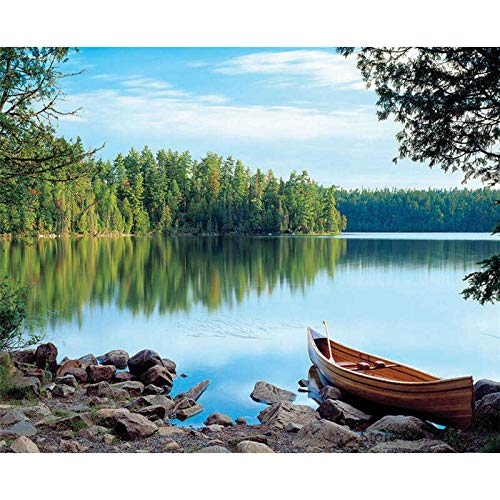 yaoxingfu Rahmenlos Nach Werken Ausmalbilder Landschaft Schiff Boot Dekorationen 40x60cm