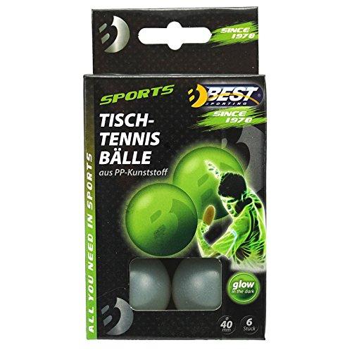 Best Sporting Funbälle Spaßbälle Tischtennisbälle 6 St, nachtleuchtend Glow in The Dark