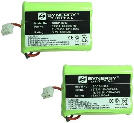 ATT TL74108 Portland National uniform free shipping Mall Cordless Phone Battery Combo-Pack x Includes: SDC 2