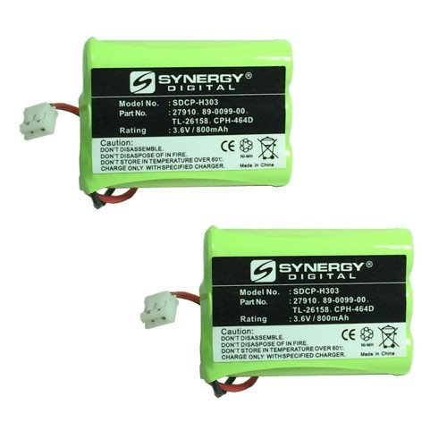 AT&T-Lucent 27910 Cordless Phone Battery Combo-Pack includes: 2 x SDCP-H303 Batteries