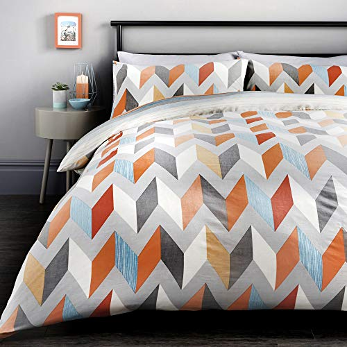Fusion - Grafix - Easy Care Duvet Cover Set - Double Bed Size in Multicolour