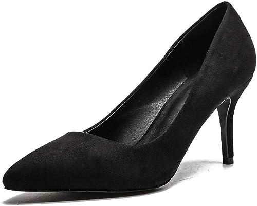 HLG Microfibre pointu talons talons talons de la femme pointu couleur unie bouche peu profonde bouche chaussures de mariage chaussures de mariage 0e3