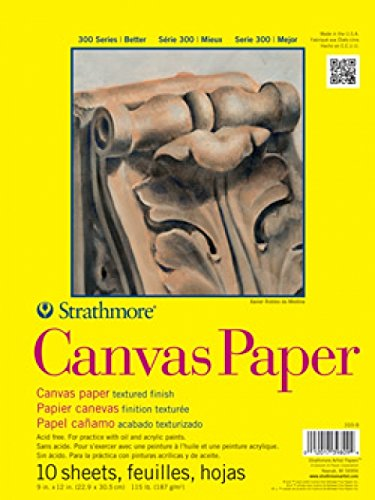 Strathmore 300 Series Canvas Pad, 9'x12' Glue Bound, 10 Sheets