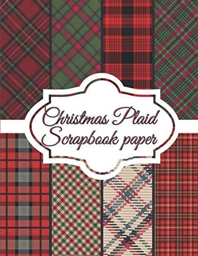 Christmas Plaid Scrapbook Paper: Scrapbooking Paper size 8.5
