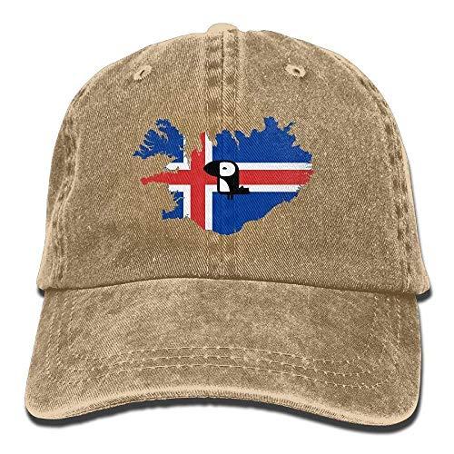 Rundafuwu Gorras de béisbol/Hat Trucker Cap Unisex Cute Iceland Puffin Vintage Jeans Classic Dad Hat Adjustable Cotton Baseball Caps