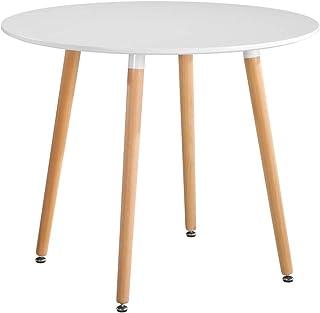 GOLDFAN Drewniany stół do jadalni nowoczesny okrÄ…gÅ'y stÃ