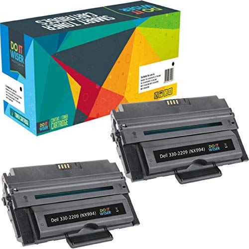 Do it Wiser Compatible Toner Cartridge Replacement for Dell 2355dn Dell 2335dn | 330-2209 NX994 (2 Pack - 6,000 Pages)