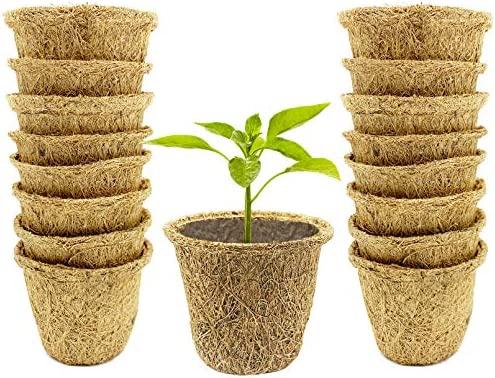 Iceyyyy 18PCS Round Coco Coir Seed Starter Pots Organic Biodegradable Germination Nursery Pots product image