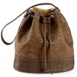 Bucket Bag for Women Non-Leather Vegan Handbag Crossbody Shoulder Woman Cork Tree