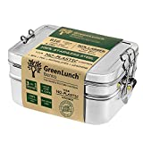 Stainless Steel 3-in-1 Bento Lunch Box with Pod Insert - Holds 6 Cups of Food - Eco-Safe, Healthy,...