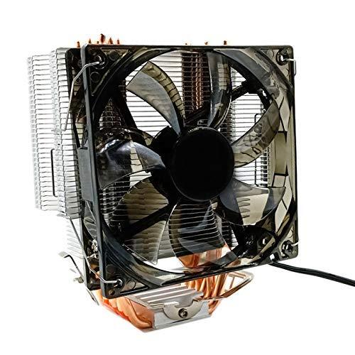YUQIYU CPU Refrigerador 12 cm Ventilador 6 de Cobre HEATPIPES 3PIN RADIADOR Un Solo refrigerador de enfriamiento de Ventilador con LED for LGA...