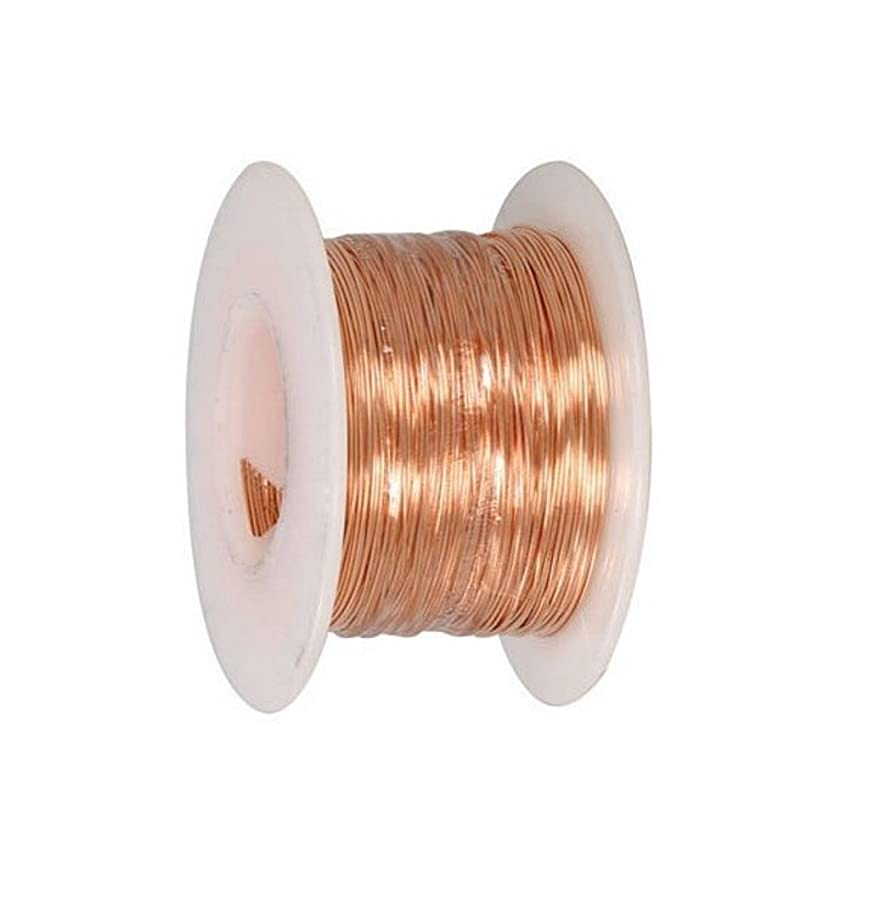 24 Ga Bare Copper Wire 100 Ft Spool (Dead Soft)