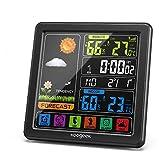 Koogeek Estacion Meteorologica,Pantalla LCD en Color,Sensor Exterior,Estacion Meteorologica Interior Exterior,Barómetro de Humedad,Reloj Despertador,Estación Meteorológica