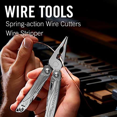 LEATHERMAN, Wingman Multitool with Spring-Action Pliers and Scissors, Built in the USA, Stainless Steel with Nylon Sheath