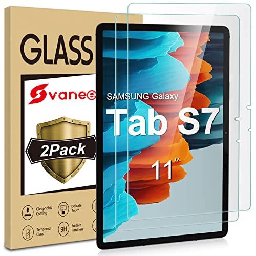 Ecenone - Protector de pantalla de cristal templado para Samsung Galaxy Tab S7 11 pulgadas 2020 (SM-T870/T875), 2 unidades, dureza 9H, alta definición, fácil instalación