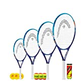 Head Instinct (Maria) Raquette de tennis junior + 3 balles de tennis (48,3 cm, 21', 58,4 cm et 63,5 cm) (63,5 cm + balles de stade 2)