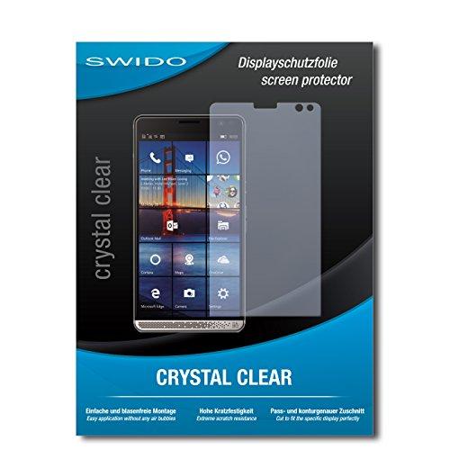 SWIDO Schutzfolie für HP Elite X3 [2 Stück] Kristall-Klar, Hoher Festigkeitgrad, Schutz vor Öl, Staub & Kratzer/Glasfolie, Bildschirmschutz, Bildschirmschutzfolie, Panzerglas-Folie