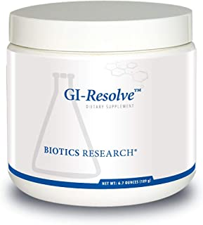 Biotics Research GI-Resolve™– Optimal Gastrointestinal Support. Great-Tasting Powder, Free of Added Flavors, Colors, sweeteners, Gums or Common allergens. 90 Caps