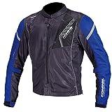 コミネ KOMINE バイク プロテクトフル メッシュ ジャケット アウター プロテクター 通気性 Black/Blue L 07-128 JK-128