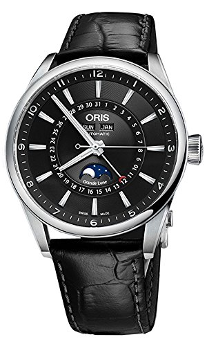 Oris Artix Complication Moonphase Automatic Steel Mens Strap Watch Calendar...