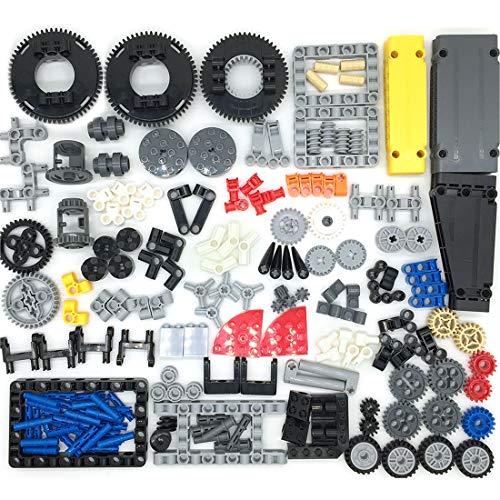 WWEI Piezas de repuesto para equipo de ingeniería, caja de cambios con amortiguador, pasador de seguridad para neumáticos, plataformas giratorias, juego para bloques compatible con Lego