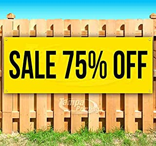 75 off sale signs